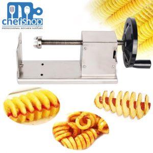 ماكنة بطاطا كيرلي tornado Potato Slicer / Manual Potato Cutter Slicer