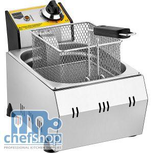 مقلى بطاطا حوض واحد ذات كفاءة عالية يعمل على الكهرباء HEAVY DUTY ELECTRIC DEEP FRYER 5 liter :