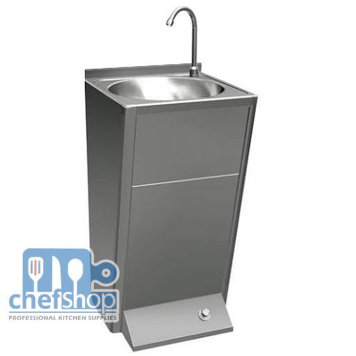 مغسلة ايدي تعمل عن القدم Wash hand basin with foot control mixer tap