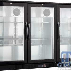 ثلاجة ميني بار سوداء 3 ابوب فتح Black Colour Back Bar Cooler Energy Saving 3 door