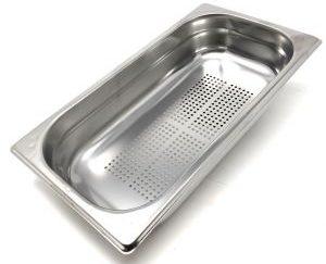 جاط مصفاية 1/3 عمق 10 سم Gastro norm Pan perforated Stainless Steel 1/3 Depth : 10 cm