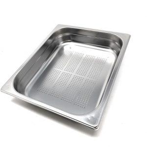 جاط مصفاية 1/2 عمق 6 سم Gastro norm Pan perforated Stainless Steel 1/2 Depth : 6 cm