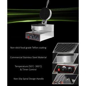 ماكنة وافل دائرية صناعية Waffle Maker Stainless Steel