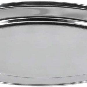 صينية ستانلس ستيل موديل بيضوي Stainless steel platterOval shape