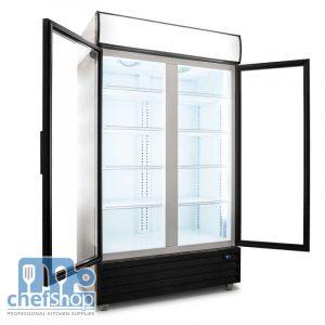 ثلاجة عامودية بابين - ابواب زجاجية 800L Double Door Upright Display Fridge - Glass Door