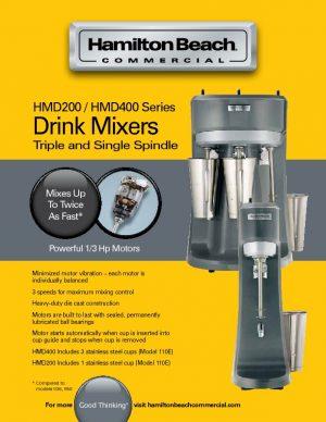 ماكنة ميلك شيك 3 كاسات Triple Spindle Commercial Drink Mixer HMD400