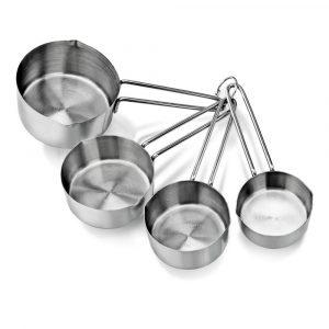 طقم عيار فنجان 4 قياسات CupsSpoonsSet Liquid 5 size