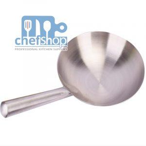 ووك مصنوع من الستانلس ستيليد واحدة مستديرة36 سم Stainless steel Wok One round hand 36 cm