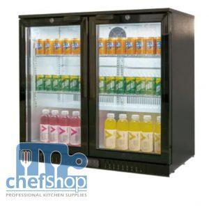 ثلاجة ميني بار سوداء بابين Black Colour Back Bar Cooler Energy Saving 2 door