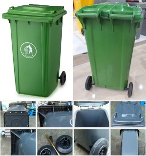 حاوية بلاستك 120 ليتر مع غطاء GARBAGE BIN 120 ltr