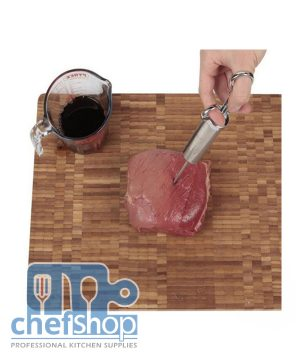 ابرة حقن صوس / للحمة و الدجاج Stainless Steel Meat Marinade Injector 2 oz Flavor Needle Cooking Syringe