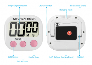 تايمر مطبخ ديجيتال رقم كبير LCD electronic timer digital - timer kitchen timer reminder DIGITAL TIMER