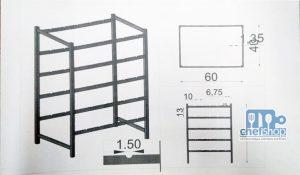 قاعدة لوضع اسياخ الكورتس Base for stick / Roller Stand