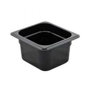 جاط بلاستيك اسود حجم 1/6 عمق 10 سم BLACK PLASTIC GN CONTAINER Size 1/6 depth 10 cm