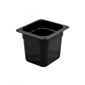 جاط بلاستيك اسود حجم 1/6 عمق 15 سم BLACK PLASTIC GN CONTAINER Size 1/6 depth 15cm