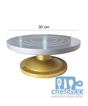 ستاند تزيين كيك دوار 30 سم ROTATING CAKE STAND 30 cm