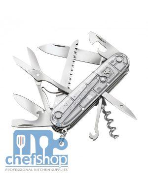 موس جيب سويسري نوع فكتورانوكس 54755 VICTORINOX SWISS ARMY SILVER TECH HUNTSMAN KNIFE