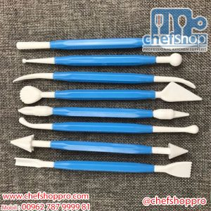 مجموعة ادوات حفر للخضار والفواكه و الحلويات 12 قطعة Plastic Carving tool set