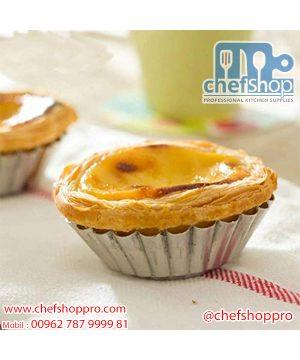 طقم قالب تارت عميق 4 قطع Right Products Aluminium Cup Cake Tart Mould for Oven (4 pcs) 7.5 x 7.5 x 2 cm