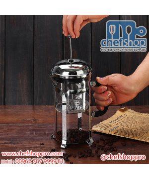 كاسة تحضير الشاي والاعشاب 600 مل Glass Cafetiere French Coffee Press Pot Coffee Brewing Fresh Tea Filter (600ml)