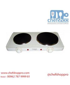 ٢ شعلات كهربائية من إمجوي بقوة ٢٥٠٠ واط - أبيض UEHP-337 Emjoi UEHP-337 Table Top Twin Hobs - 2500W