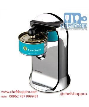 فتاحة علب 3 في 1 من كينوود CO606 Kenwood CO606 3-in-1 Can Opener with Knife Sharpener and Bottle Opener, 40 Watt - Chrome