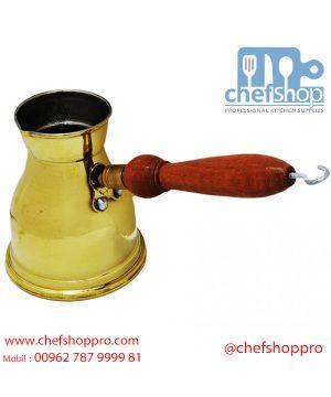 دلة قهوة تركية / نحاس لميع2 فنجان Turkish Coffee Pot - Polished Brass Finish