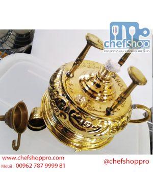 سبرتاية لصناعة القهوة من النحاس الفاخر صناعة يدوية Piece of Copper to make coffee and tea hand made can filling alcohol inside and make coffee