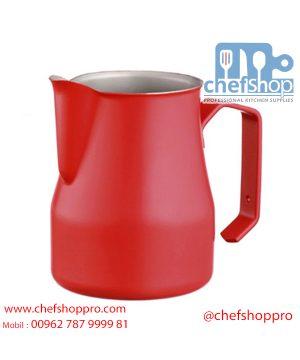 ابريق حليب صناعي 350 مل / احمر Red Professional milk jug Europa 35 cl
