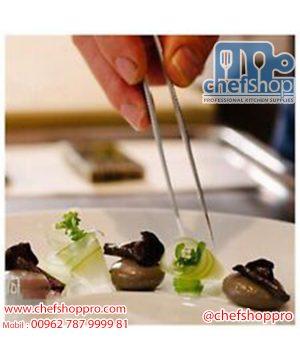 ملقط الشيف - المعقوف ستانلس 21 سم Angled chef tong